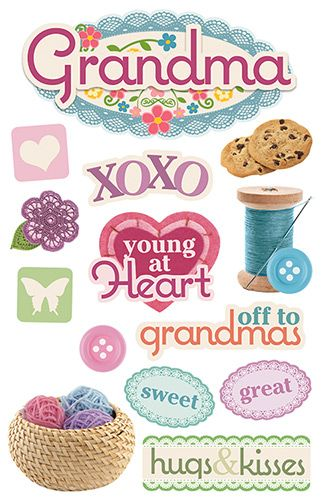 World/'s Greatest Grandma Grandmother Heart Planner Scrapbook Craft Stickers
