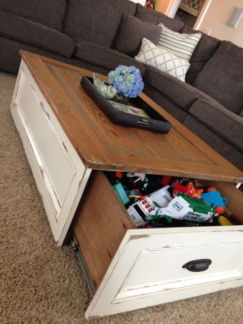 diy coffee table with storage diy projects pinterest diy