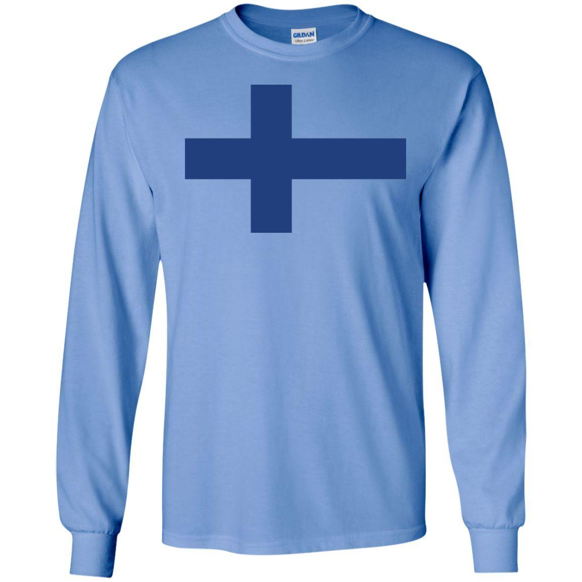 Finland flag t shirt 1-01 LS Ultra Cotton Tshirt