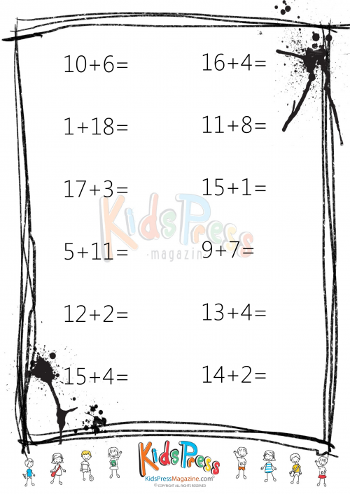 Easy Addition Worksheet - #7 | Math worksheets, Addition ...