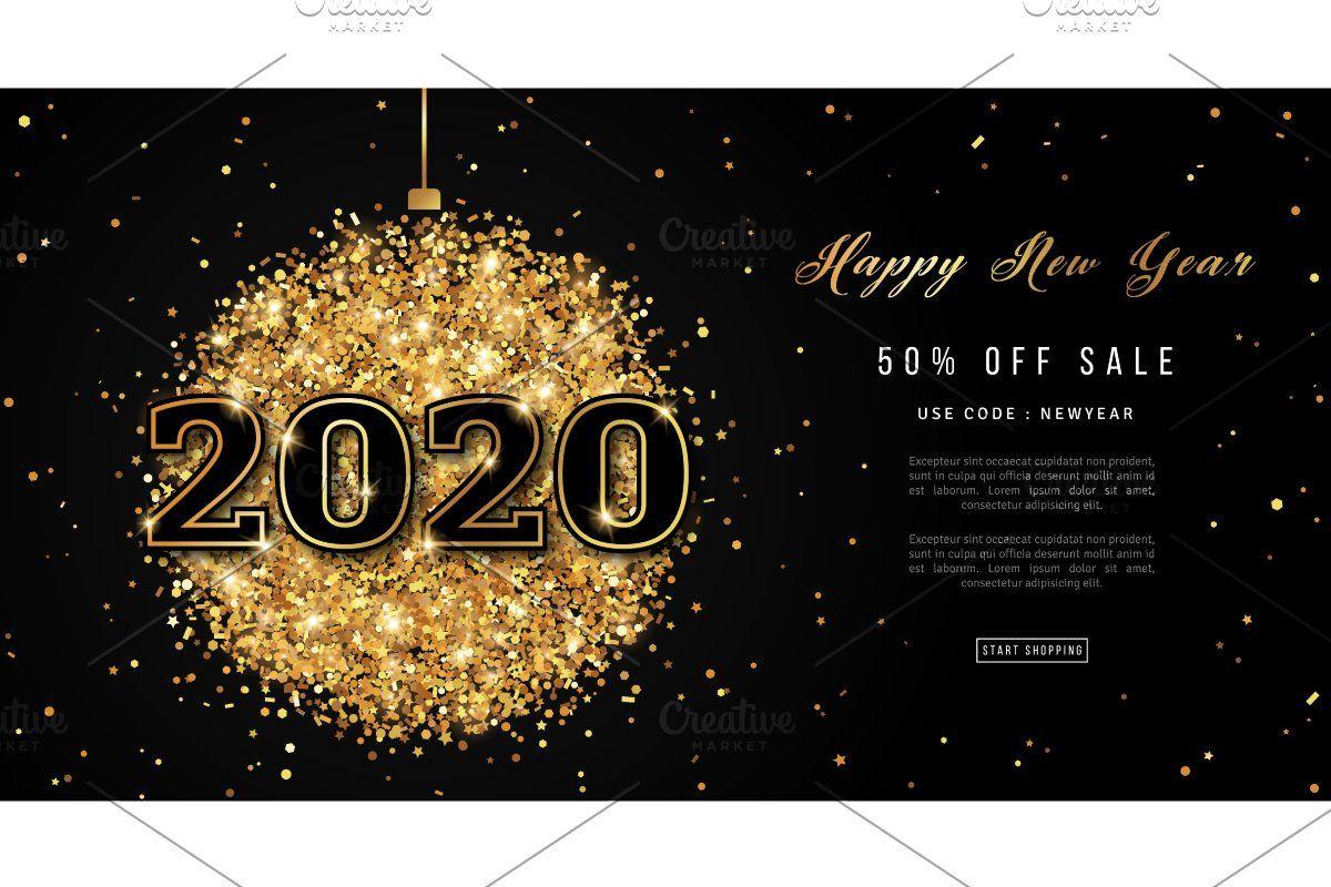 Happy New Year 2020 Greeting Happy New Year 2020 New Year Art New Year 2020