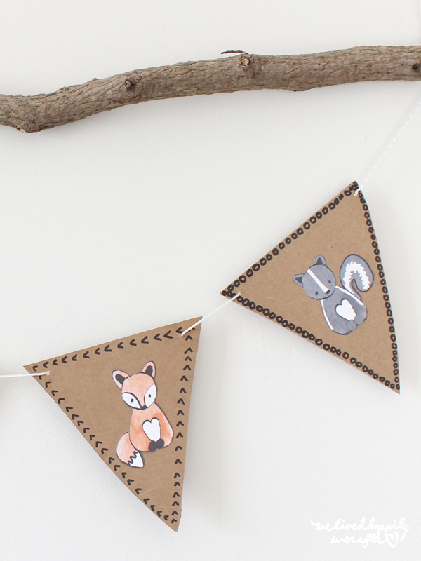 Free Forest Animal Bunting Banner Printable Free