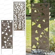 Un treillage dcoratif en mtal Ce treillage dcoratif peut tre plant dans le sol ou fix sur