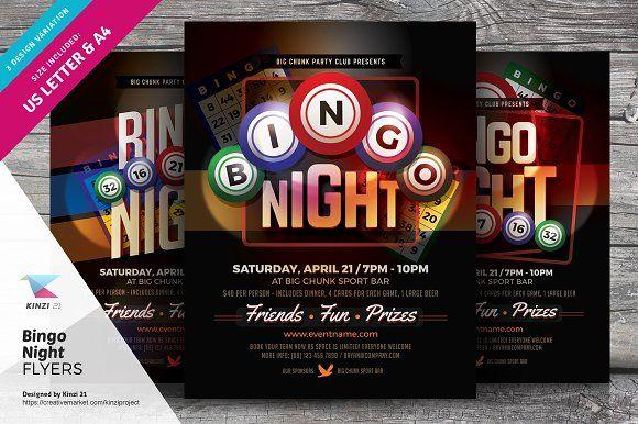 Bingo Night Flyer Templates By Kinzi On Graphicsauthor