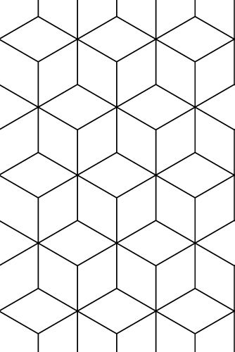 Zilverblauw Wallpaper Hexagonal Black Nl