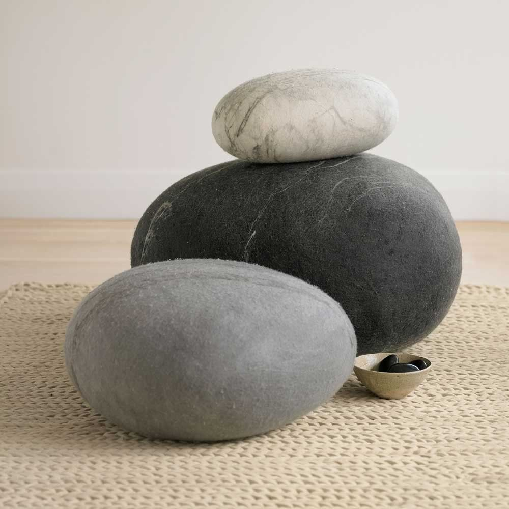 Felted Wool Floor Cushions Designed To Look Like Stones By Textile Designer  Ronel Jordaan Photo Gallery