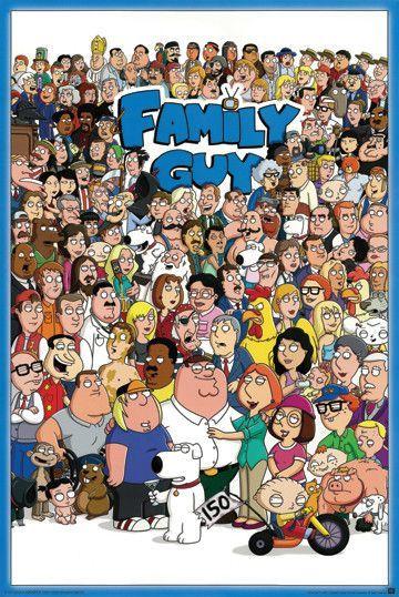 Family Guy Poster Family Guy Cartoon Family Guy Tv American Dad
