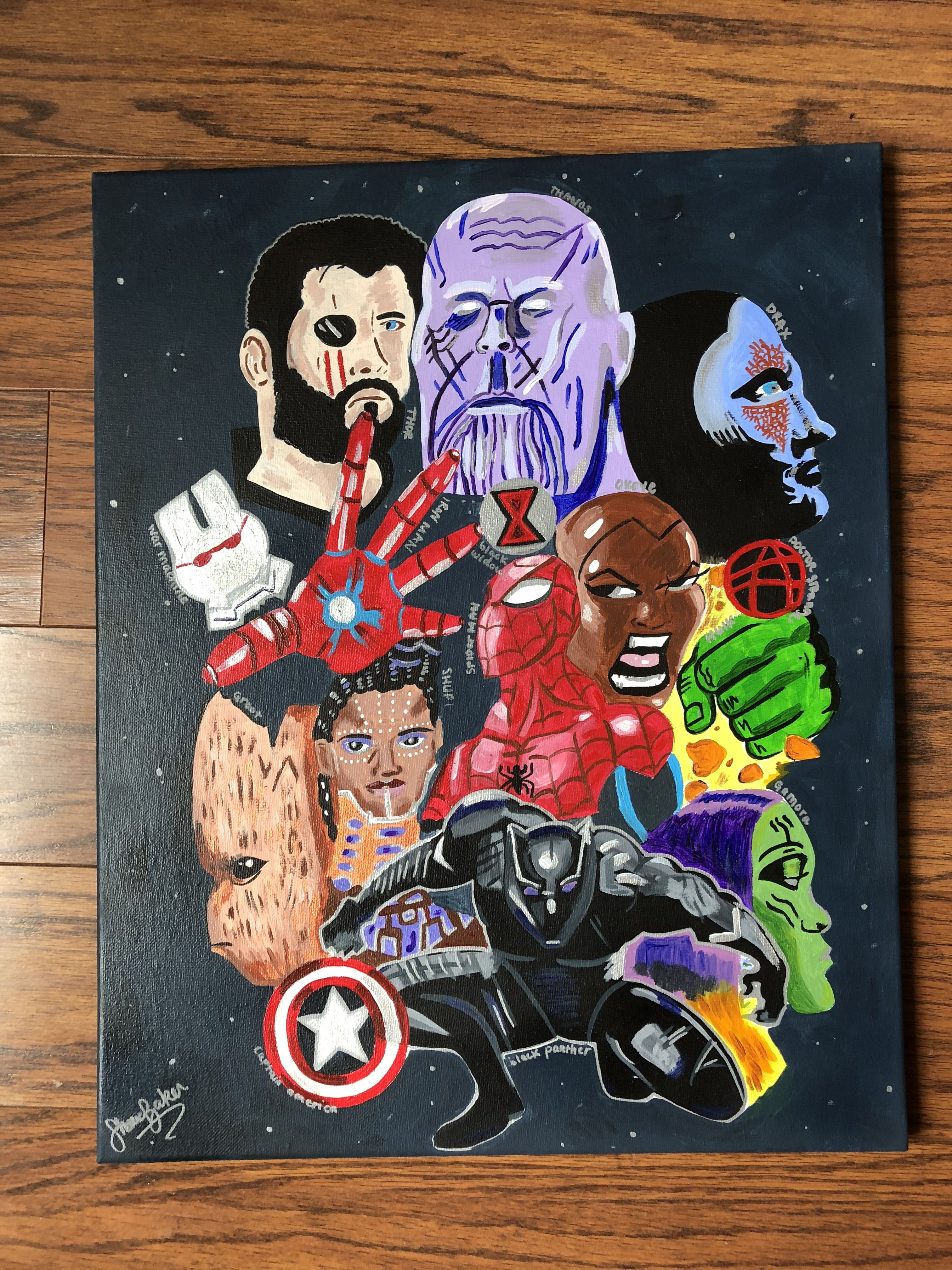 Marvel Avengers: Infinity War | Infinity war, Canvases and Acrylics