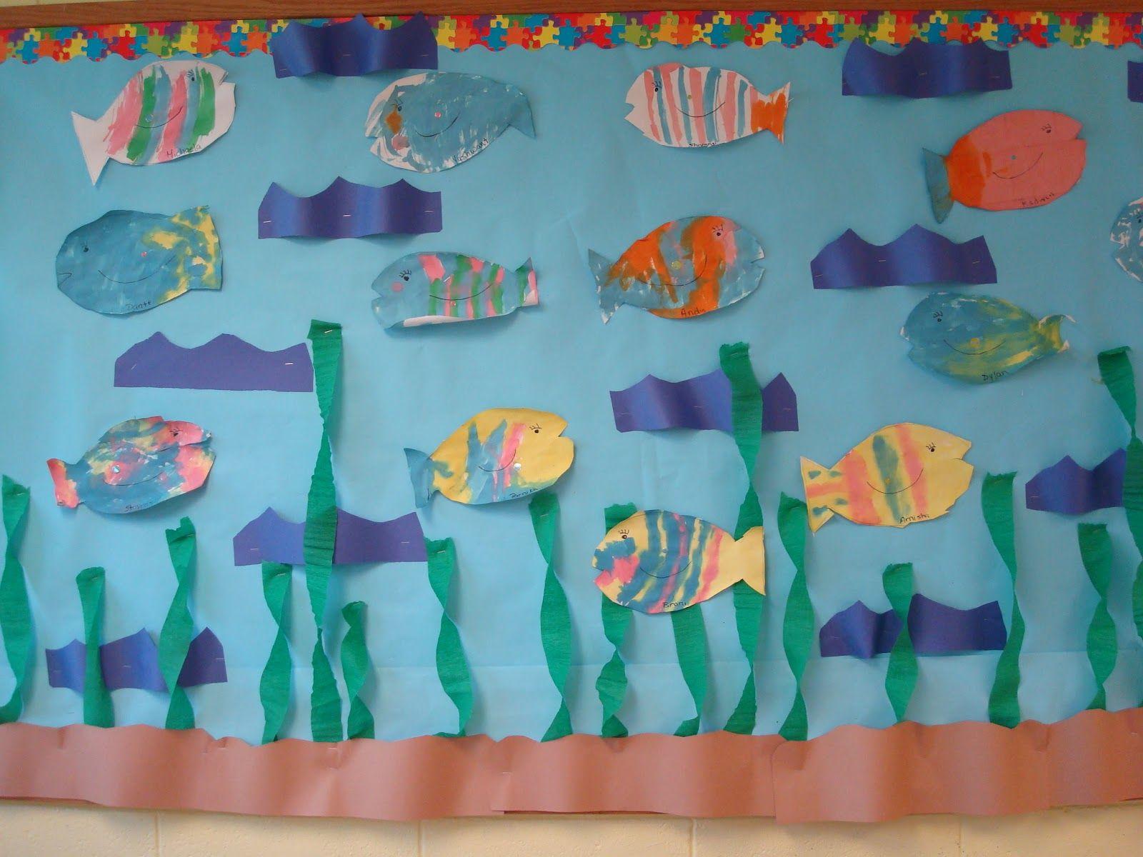 Art And Bulletin Boards For Preschool Fish Theme