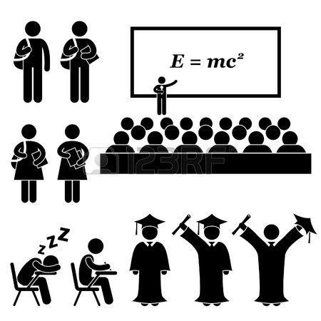 School Events Award Assembly Pledge Photo Session Expel Pictogram University Graduation Stock Photography Free