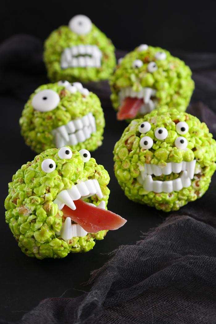 Monster Popcorn Balls #popcornballs