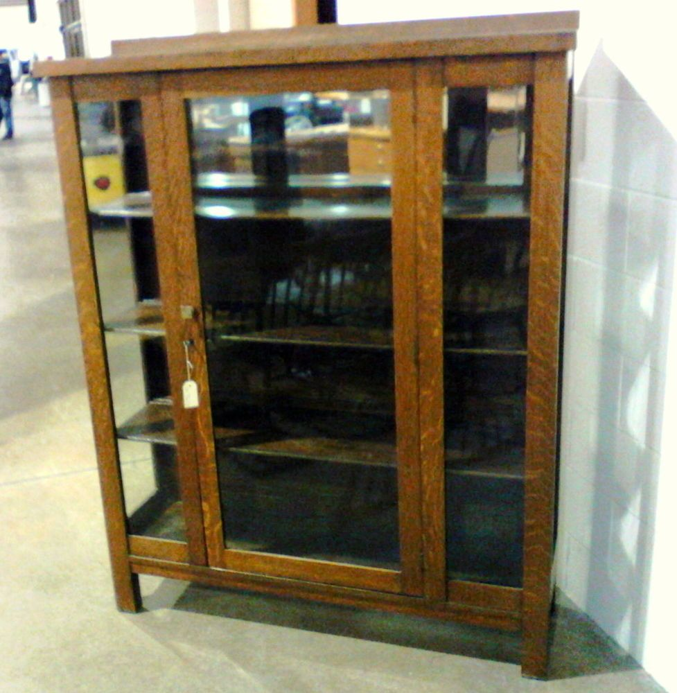 Recrafting A 1915 Craftsman: Details About Antique China Cabinet Mission ARTS & CRAFTS