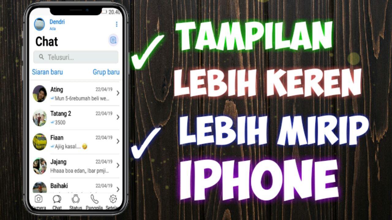 Whatsapp Mod Iphone X Untuk Android Syam Kapuk Tema Do Whatsapp Tema