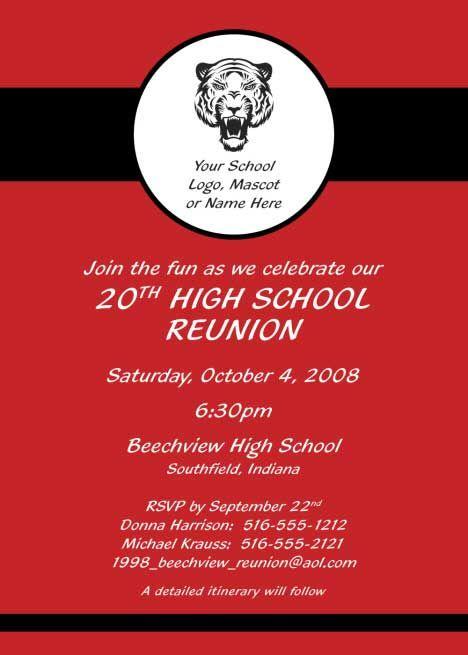 High School Reunion Invitations Google Search Reunion