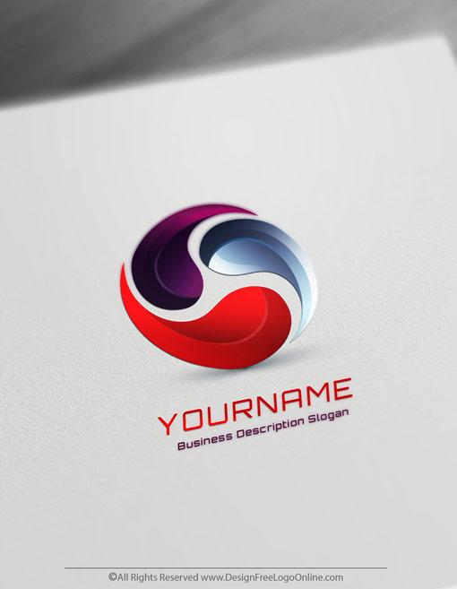 Online Free 3D Logo Maker Synergy Logo Design Logo