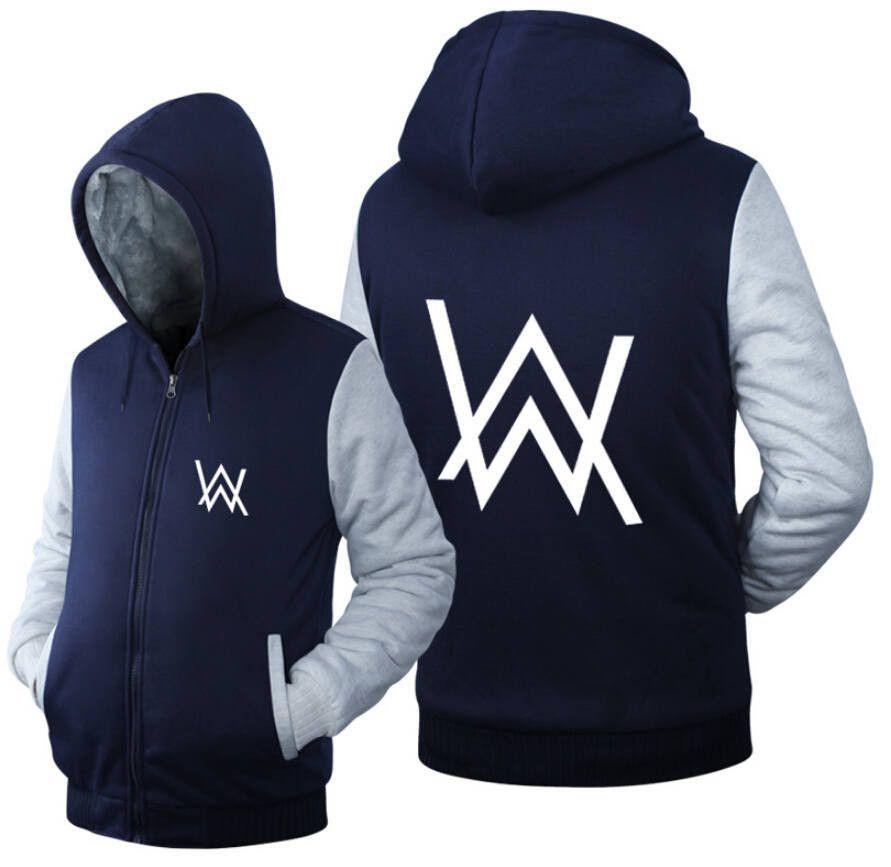 24e73aa93ae1f USA size Men Women Alan Walker Faded Jacket Sweatshirts Thicken Hoodie Coat  Clothing Casual