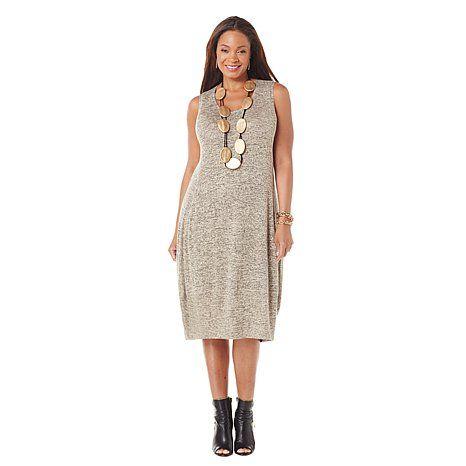 MarlaWynne Jaspe Jersey Knit Sleeveless Balloon Dress