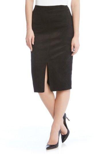 8492d92de Karen Kane Women's Faux Suede Pencil Skirt | Products | Suede pencil ...
