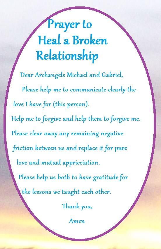 Prayer to #Heal a broken relationship #1111