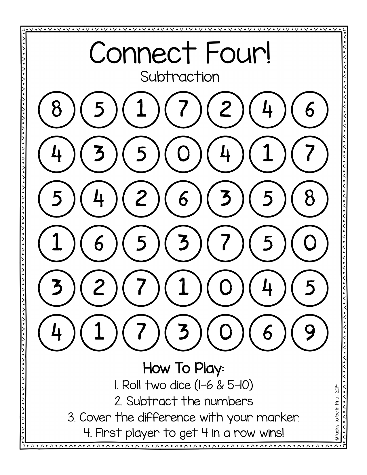 Connect 4 Addition And Subtraction Resource Preview
