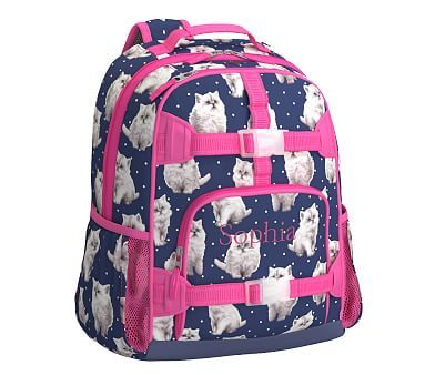 Navy Pretty Kitty Large Mackenzie Backpack Kitty