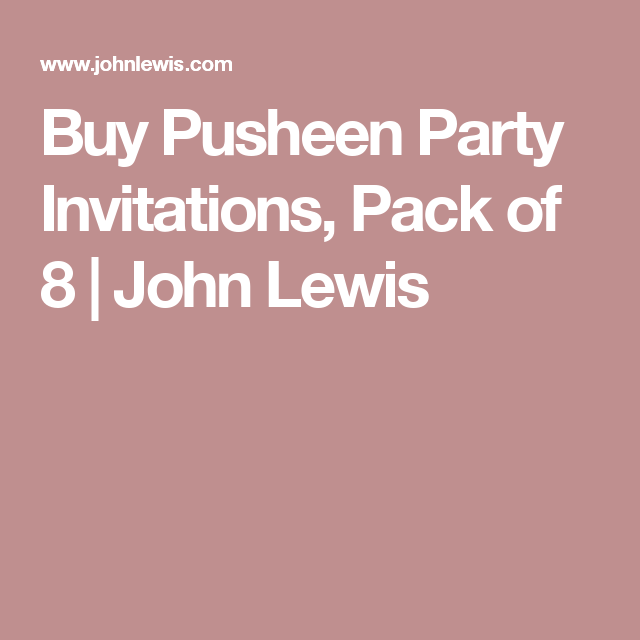 Pusheen party invitations pack of 8 pinterest pusheen and john buy pusheen party invitations pack of 8 john lewis stopboris Image collections
