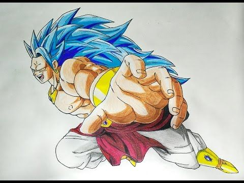 Drawing Broly Super Saiyan Blue3 Guys Please Leave A Thumbs Up If