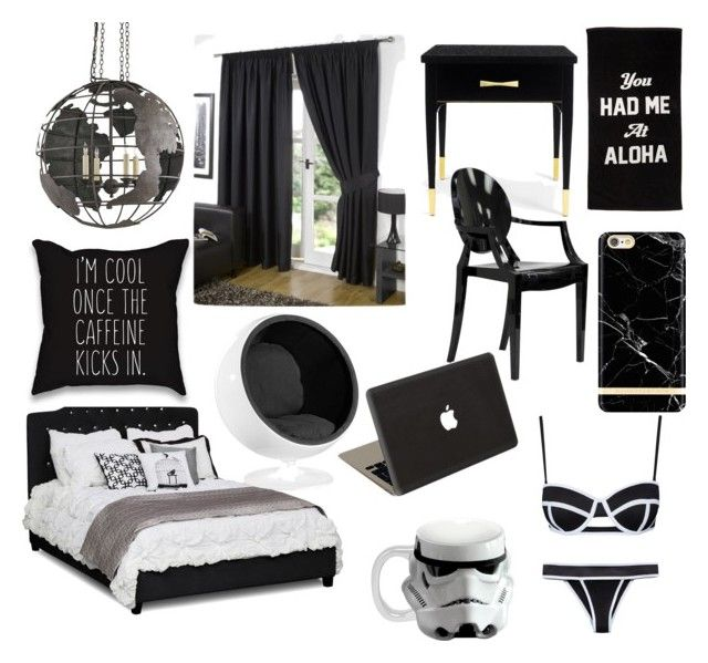 """feelin' black bedroom goal"" by belladeka-bd on Polyvore featuring Kate Spade, Rove Concepts, Jamie Clawson, Vandor, bedroom, women's clothing, women, female, woman and misses"