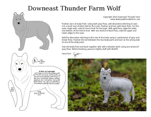 The Watchful Wolf Felt Critters Felt Ornaments