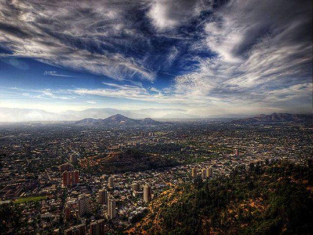 Santiago de Chile, después de la lluvia. Hermoso no?