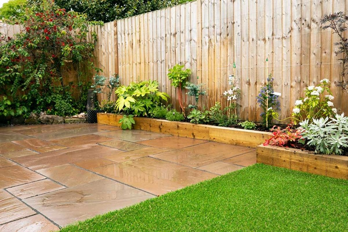 Garden Transformation in Shrewsbury   Sandstone Paving   Garden ...
