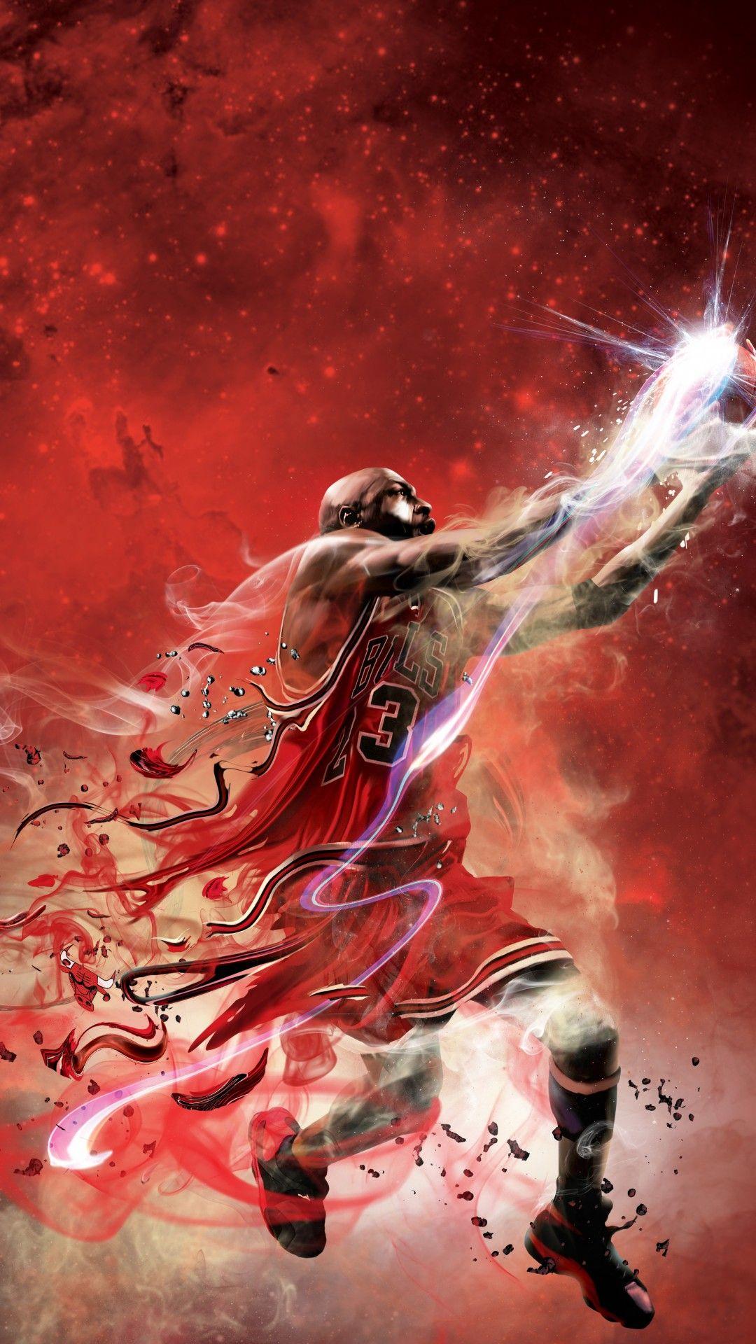Michael Jordan Basketball Mobile HD Wallpaper in 2020