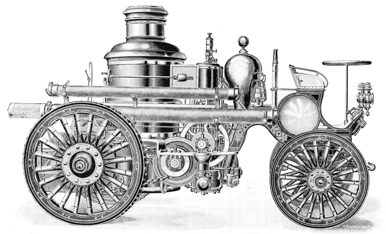Self propelled steam engine 1895 (Popular Science 1895) | Steampunk ...