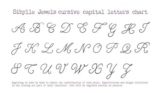 Cursive Alphabet Chart Tatoos Writing Fancy Letters Letter Tattoos Google Search Fonts Searching Numbers