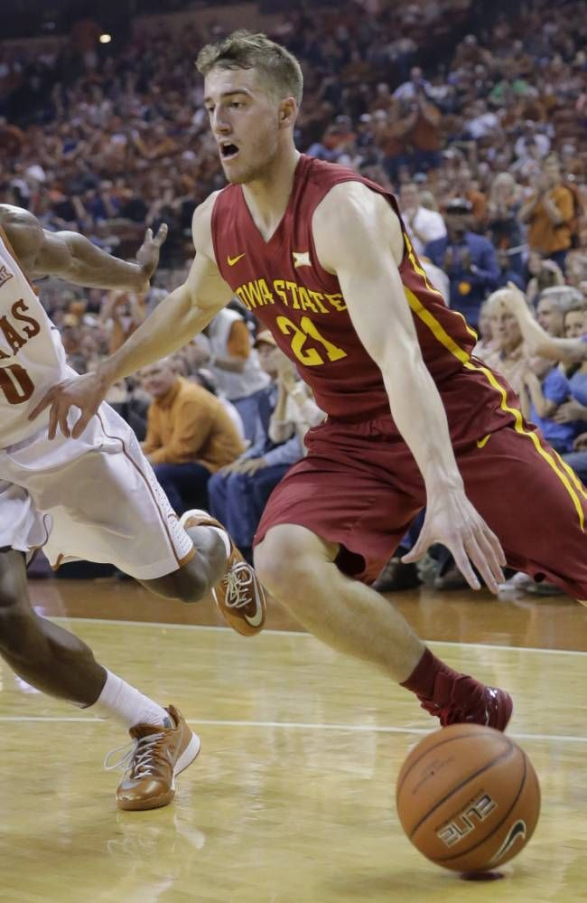 Iowa State S Matt Thomas 21 Drives Around Texas Kendal Yancy 0