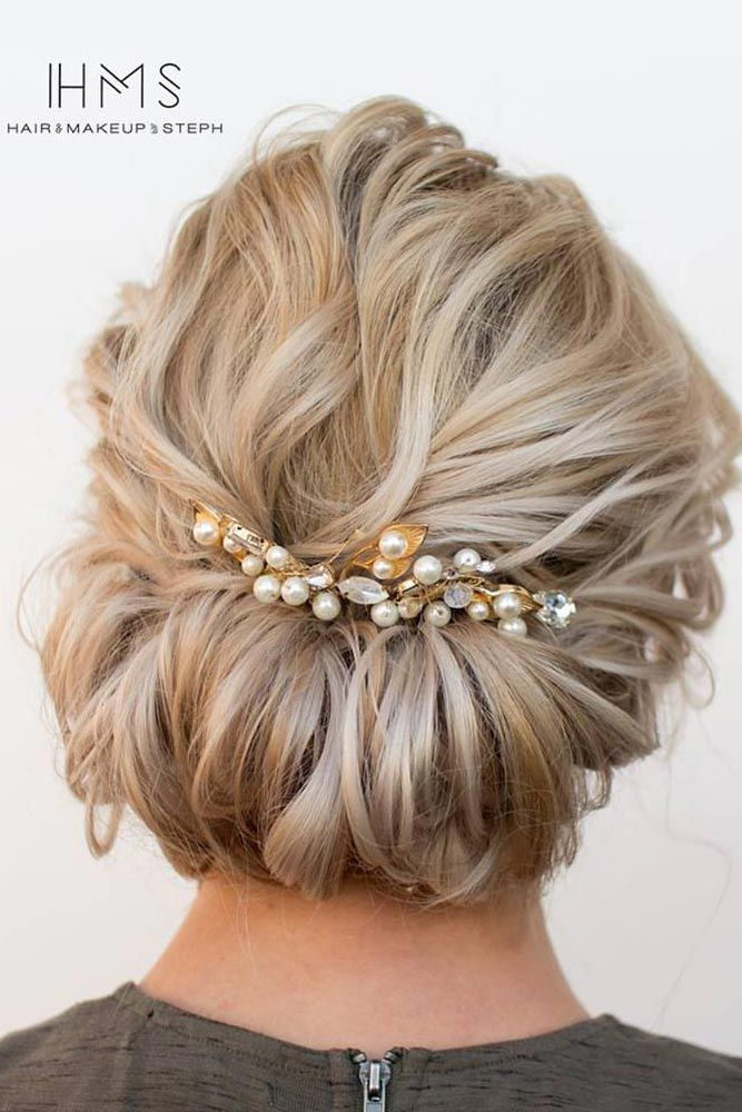 Wedding Hairstyles For Medium Hair Side 27 Chic Updos f...