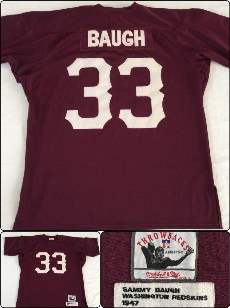 219a1643 MITCHELL & NESS MENS THROWBACK JERSEY NFL SAMMY BAUGH REDSKINS 54 WASHINGTON  #33 #MitchellNess #WashingtonRedskins