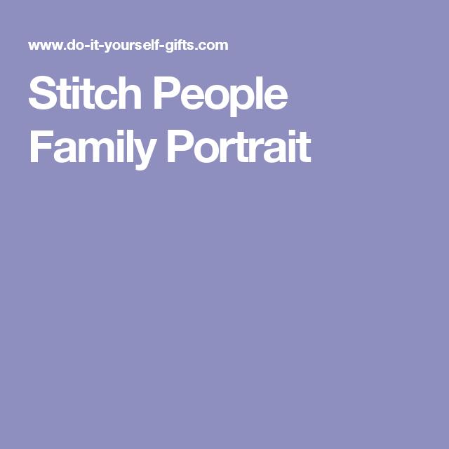 Stitch People Family Portrait