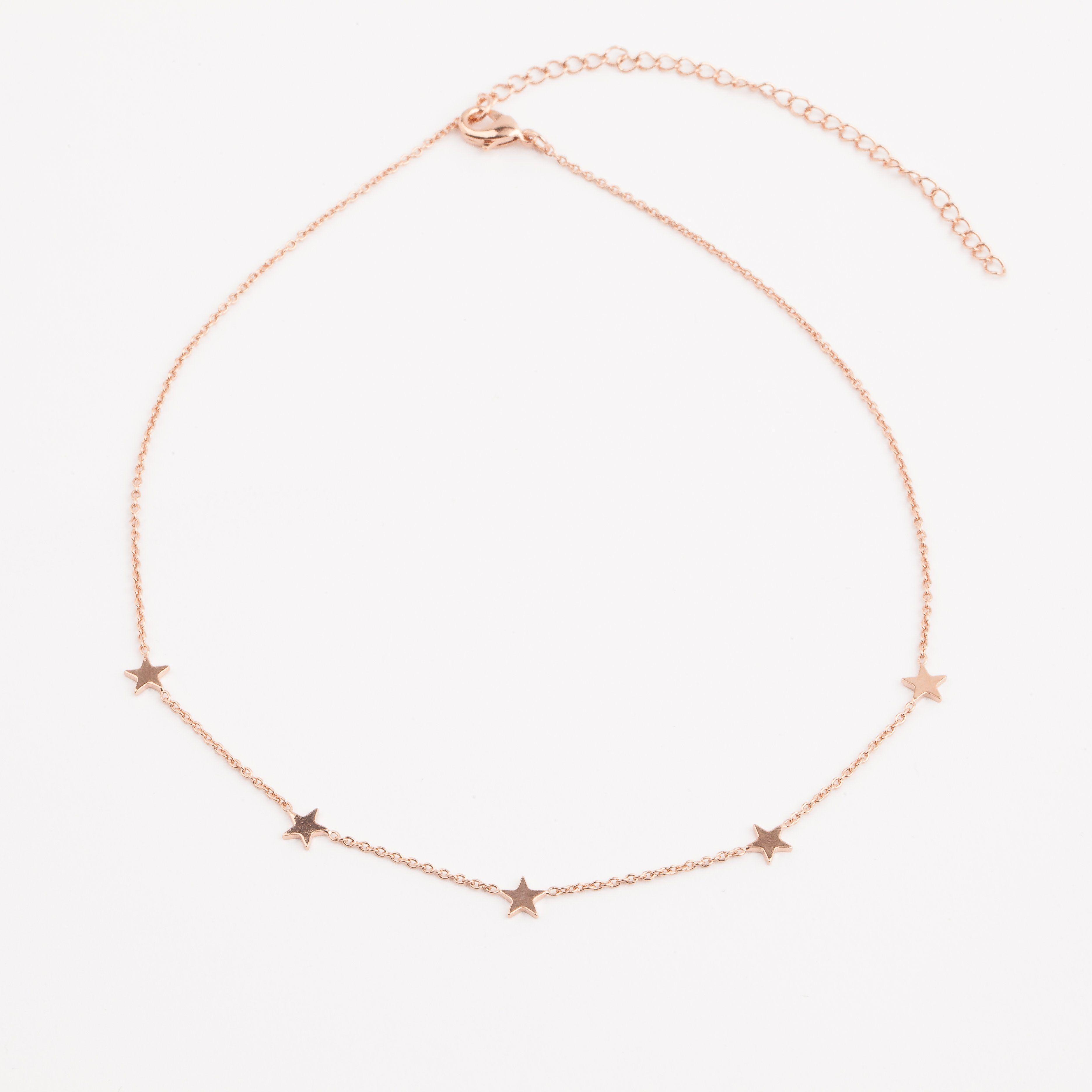 Rose Gold Paige Choker Necklace Choker Sterling silver and Choker