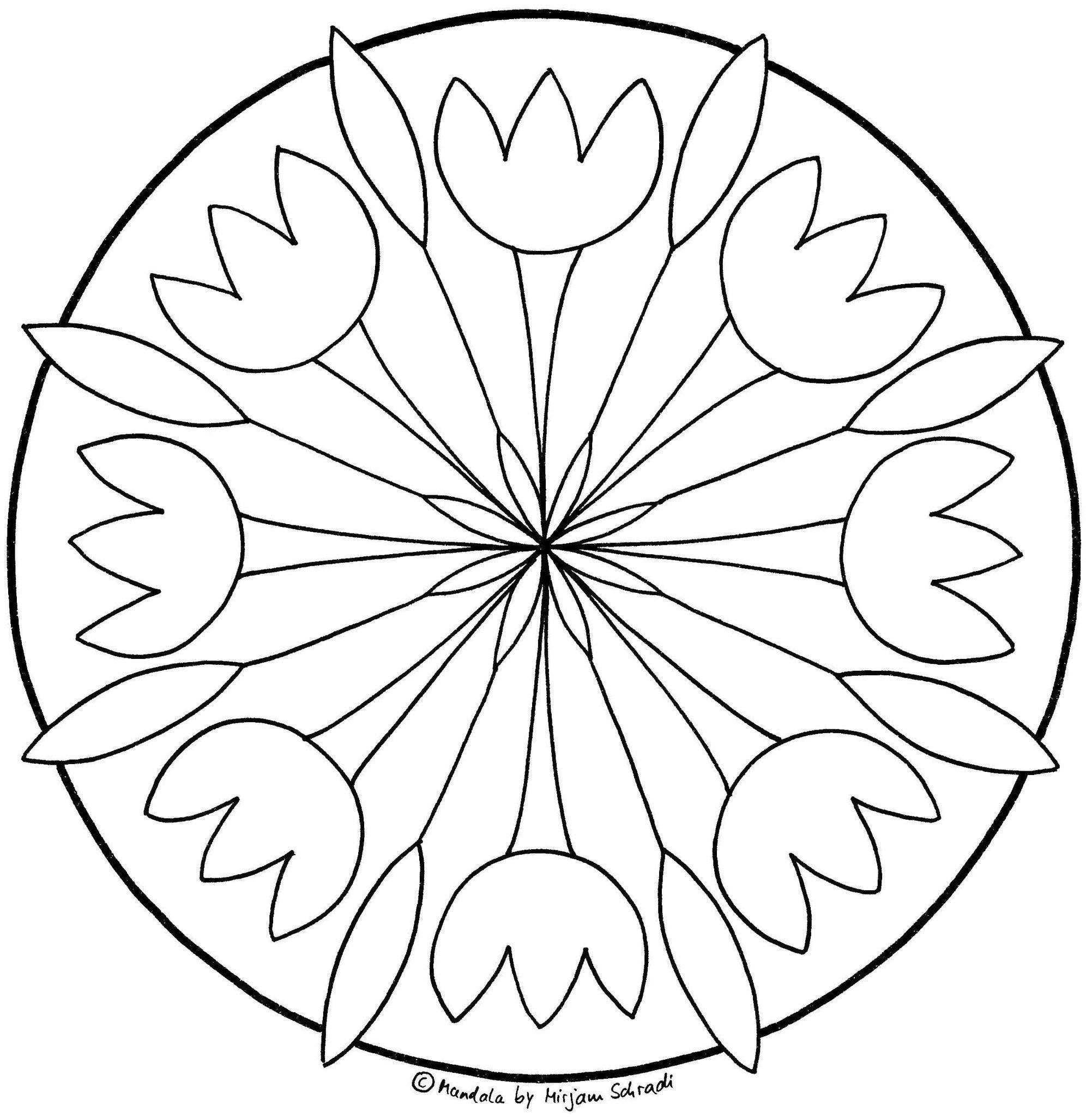 Tulpen Malvorlagen Kostenlos Mandalas Zum Ausdrucken Ausmalen Blumen Ausmalen