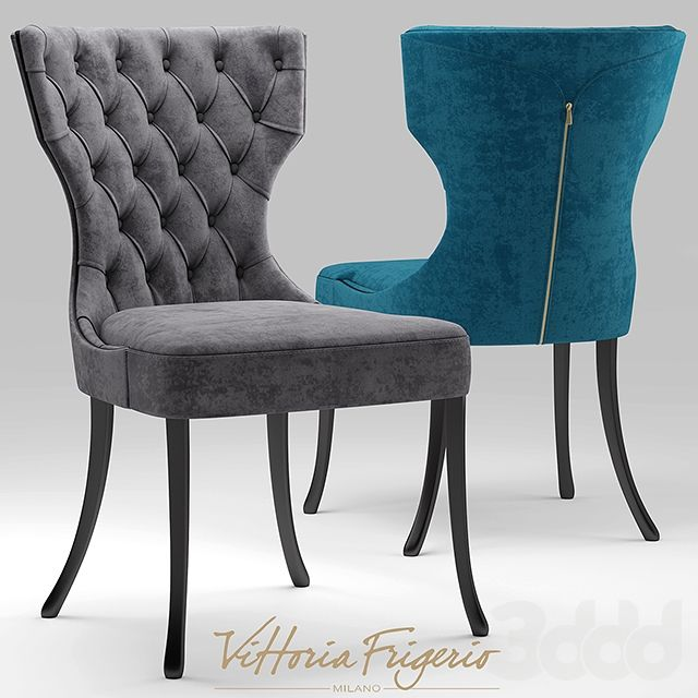 3d модели Стол + стул  Стул vittoria frigerio Adda Capitonne Grimaldi is part of Dinner chair -