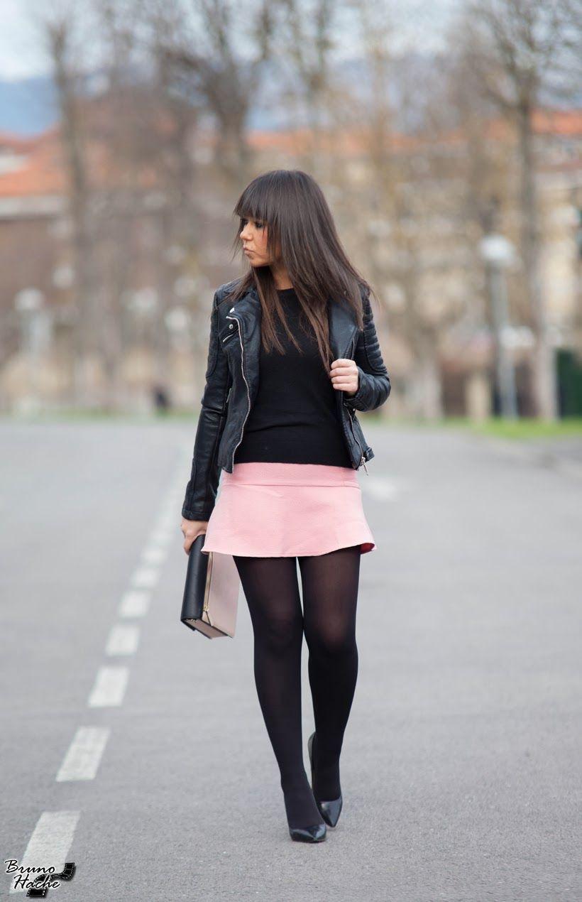 pantyhose under a jacket