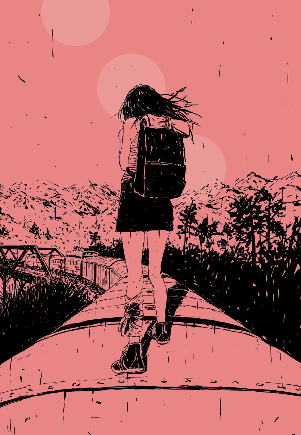 Illustration by Adams Carvalho for the short story 'Seventh' by Abigail Hodge — Popshot Issue Fifteen