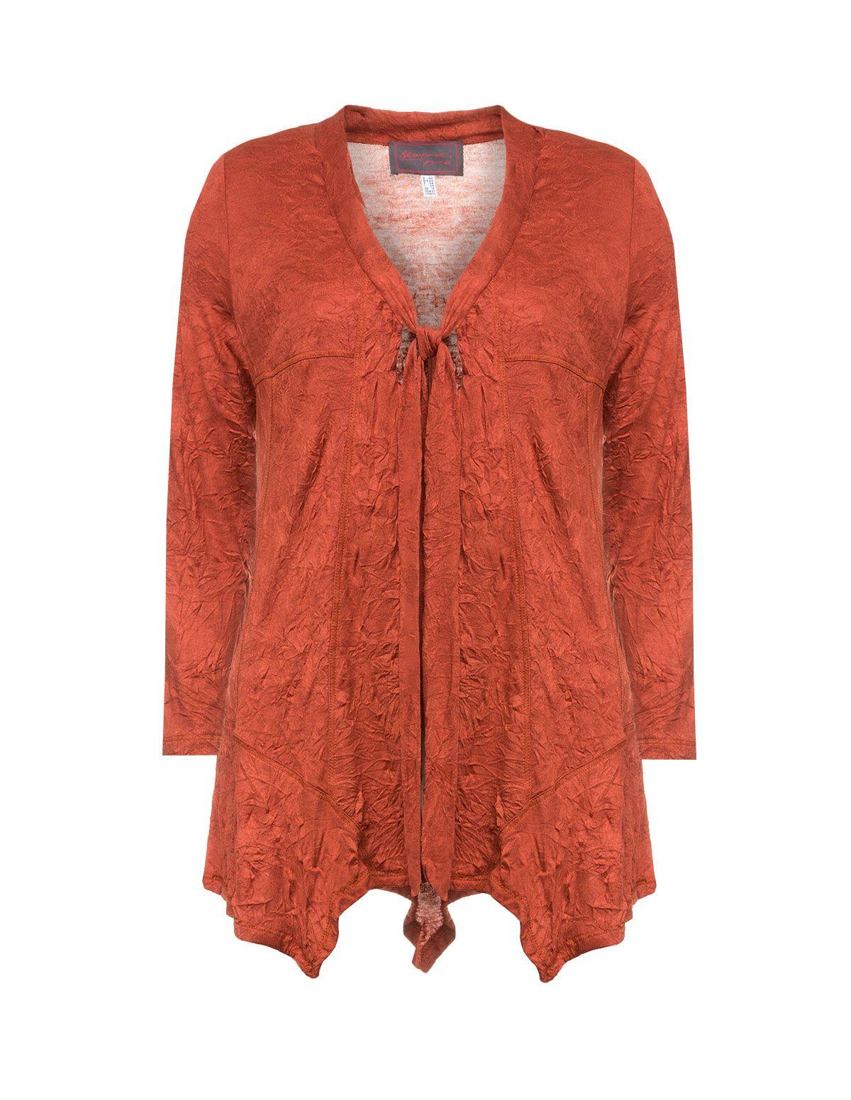 Leichte Jacke mit Schnürung von Sempre Piu in Rost