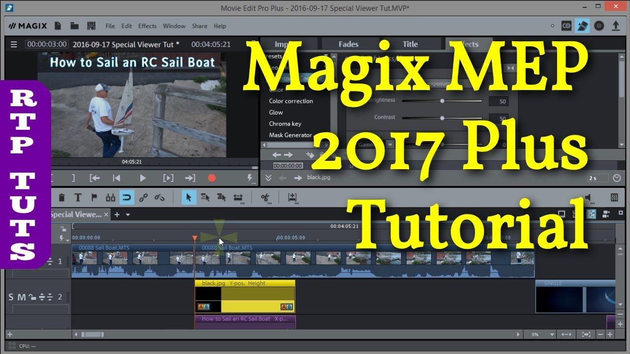 Magix Movie Edit Pro 2017 Plus Tutorial For The Beginner All Steps To M Making Youtube Videos Youtube Videos Movies