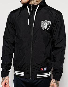 4f339703ea3 Enlarge Majestic Oakland Raiders Hooded Windrunner Jacket