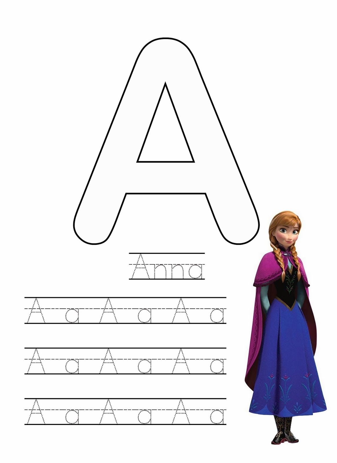 Free Frozen Writing Worksheets