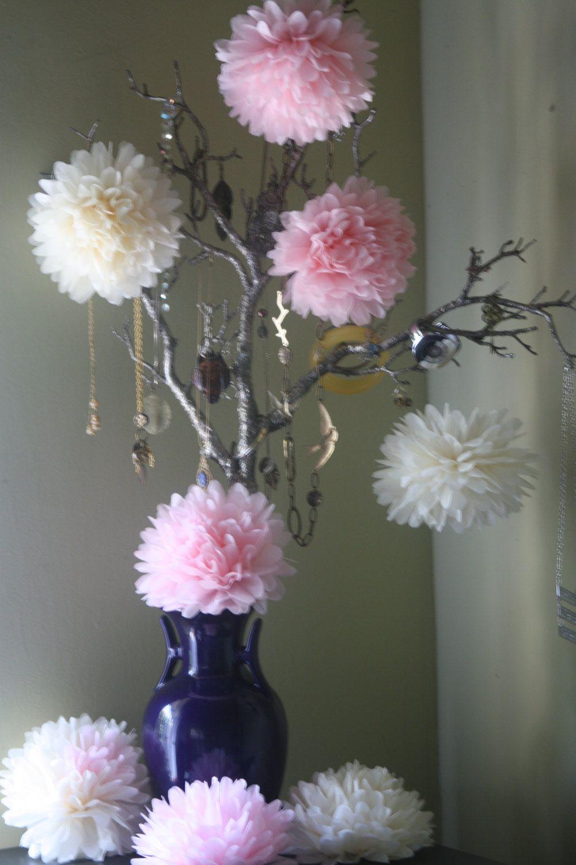 tissue paper pom poms wedding decorations - Google Search