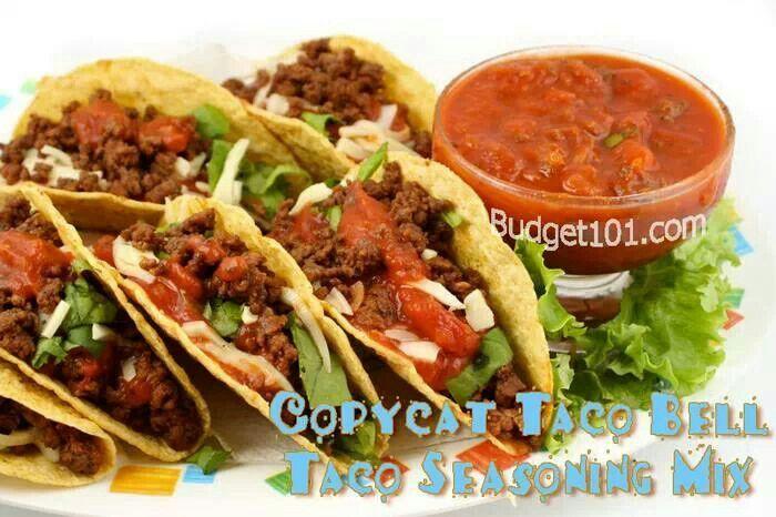 Taco Bell Seasoning Recipes Pinterest Taco Bells And Recipes