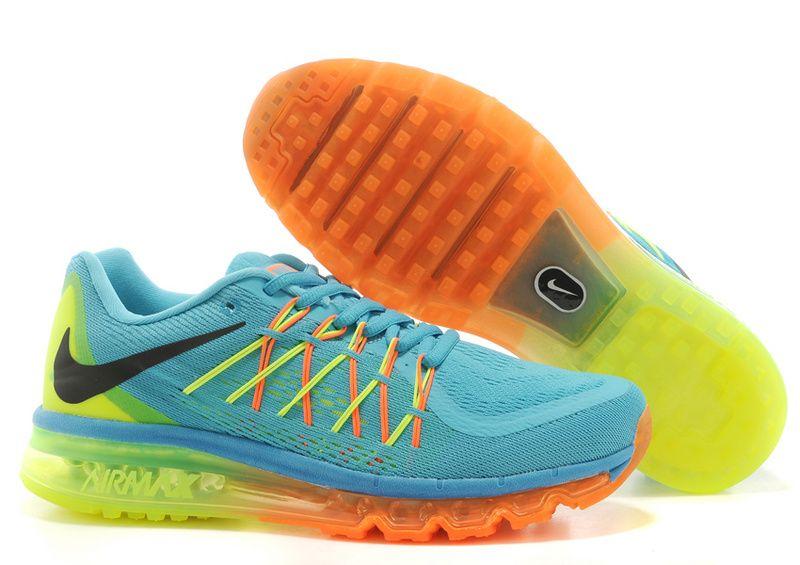 super popular cd05b c3676 Nike Air Max 2015 Men Blue Yellow Orange